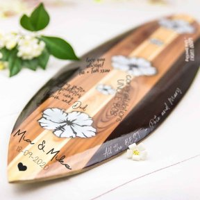 Retro Signature Hibiscus Surfboard