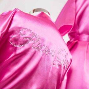 Hot Pink Satin Flower Girl Robe
