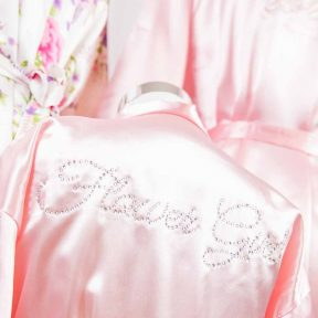 Pink Satin Flower Girl Robe