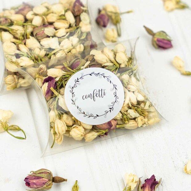 Clear Wedding Confetti Boxes