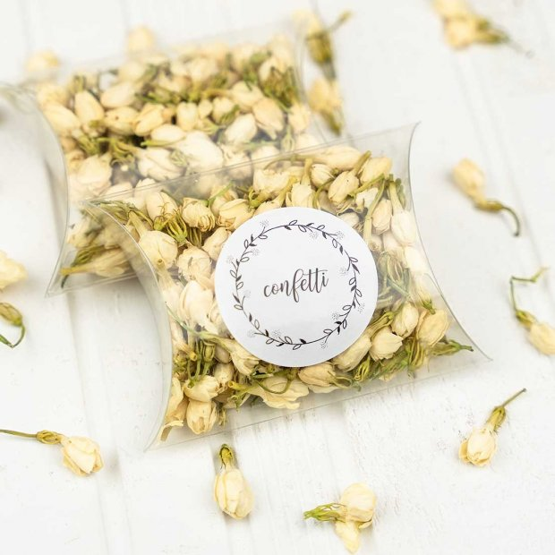 White Frosted Confetti Boxes