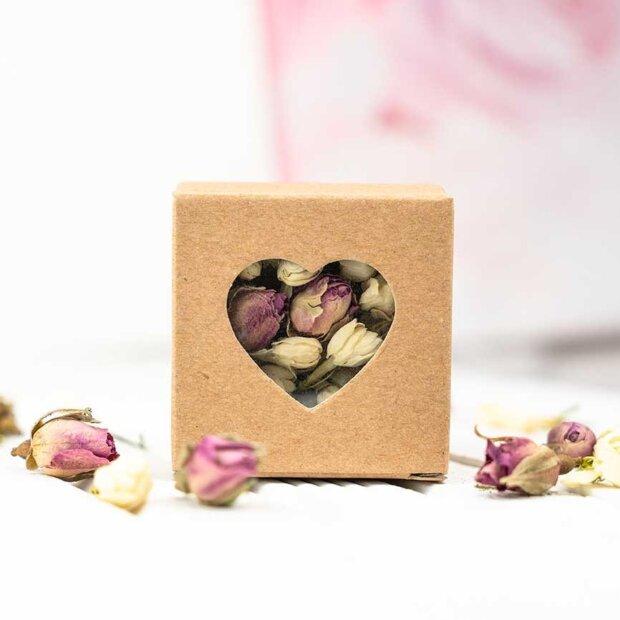 Kraft Heart Confetti Boxes