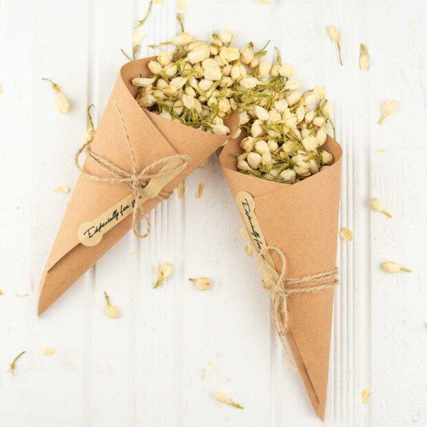 Kraft Wedding Confetti Cones
