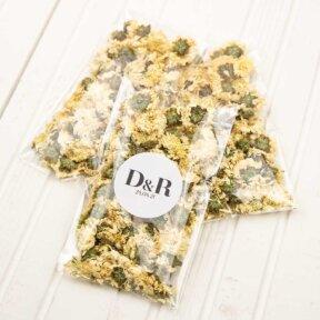 Chrysanthemum Flower Confetti Bags