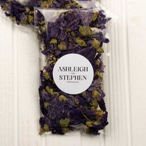 Purple Hibiscus Confetti Bags