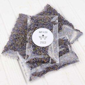Lavender Confetti Bags