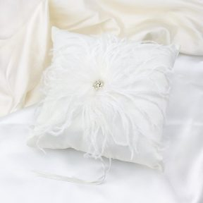 Fabulous Feathers Ring Pillow