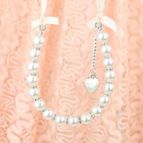 Ivory Pretty Pearls Horseshoe