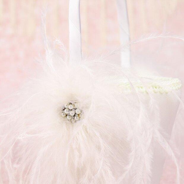 Fabulous Feathers Flower Girl Basket