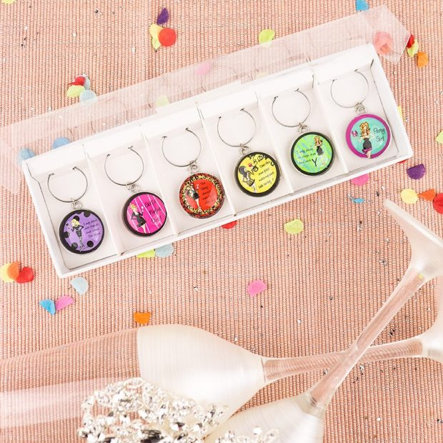 Party Girls Wine Charms