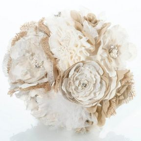 Rustic Hessian and Lace Wedding Bouquet