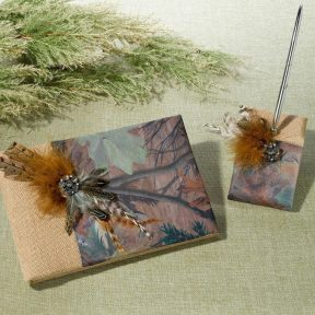 Camouflage Guest Book and Pen Set
