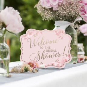 Pink and Gold Bridal Shower Signs