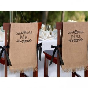 Mr and Mrs Rustic Chair Covers