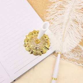 Gold Feather Pen