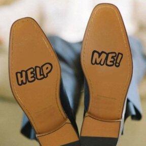Help Me Wedding Shoe Stickers
