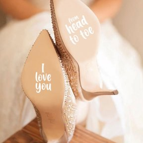 I Love You From Head To Toe Shoe Stickers
