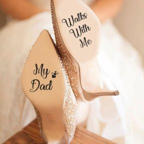 My Dad Walks With Me Shoe Stickers