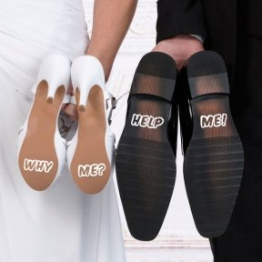 Why Me Wedding Shoe Stickers