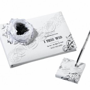 I Thee Wed Guest Book and Pen Set