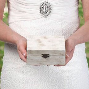 Rustic Wedding Rings Box
