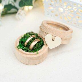 Rustic Heart Ring Box