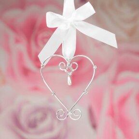 Silver Heart Bridal Charm