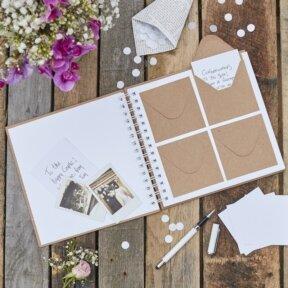 Rustic Envelope Guest Book