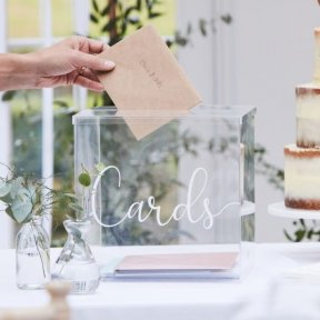 Acrylic Wedding Cards Box