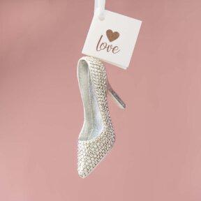 Silver Slipper Bridal Charm