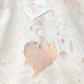 Rose Gold Leaf Charm