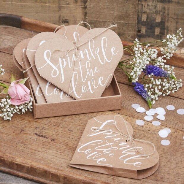 Sprinkle The Love Heart Confetti Cones