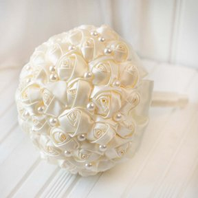 Pretty Pearls Wedding Bouquet
