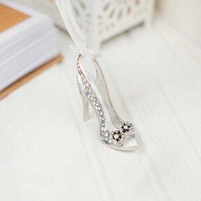 Silver Stiletto Bridal Charm