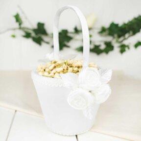 Roses Flower Girl Basket