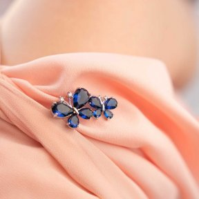Something Blue Butterfly Brooch