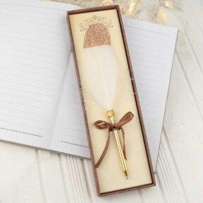 Gorgeous Gold Feather Pen