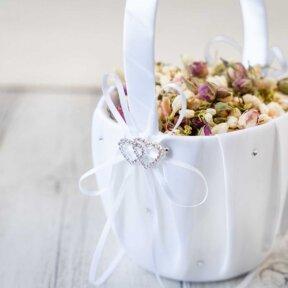 Romance Flower Girl Basket