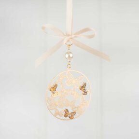 Gold Butterflies Bridal Charm