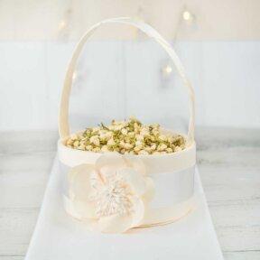 Ivory Elegance Flower Girl Basket