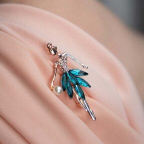 Something Blue Belle Brooch