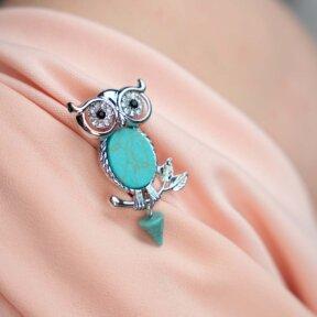 Something Blue Owl Brooch