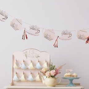 Teacup and Saucer Party Banner