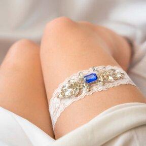Azure Blue Bridal Garter