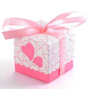 pink sweet promise bomboniere box