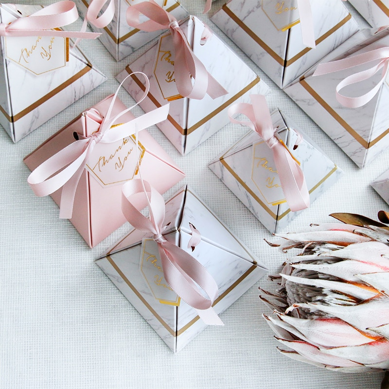 Marble Elegance Favour Box