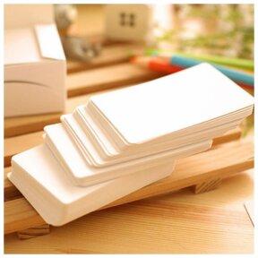 White Blank Name Cards 100pk