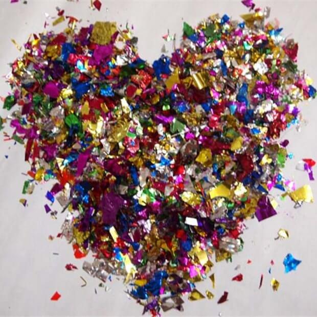 Coloured Foil Wedding Confetti