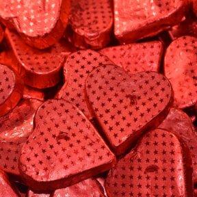 Red Romeo Hearts - Milk Chocolate