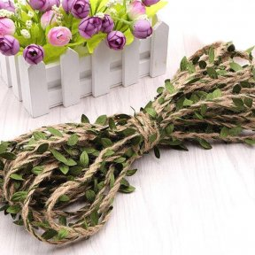 Hemp Twine with Ivy Leaf